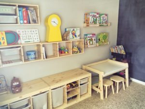 IKEA Homeschool and Play Room for Little Kids