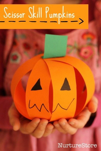 scissor-skills-easy-pumpkin-craft