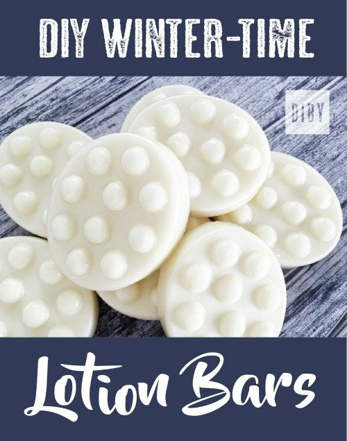 Make your own DIY winter time lotion bars to fight dry, itchy skin