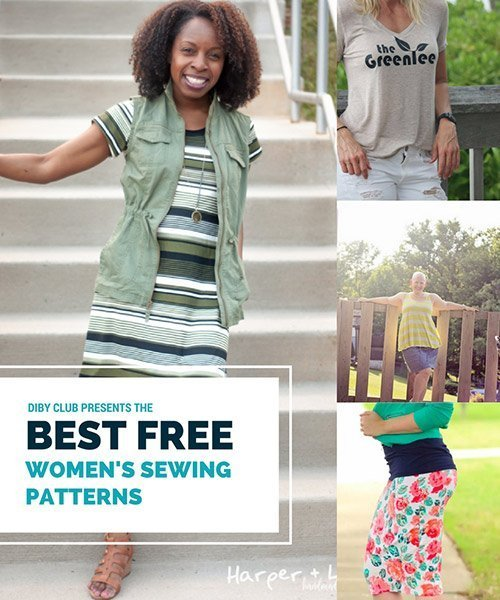 The Best Free Women\'s PDF Sewing Patterns - The DIBY Club