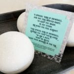 Enjoy this free Snowball Bath Bomb Recipe With A Coordinating Poem, Perfect For A Cozy Holiday Gift