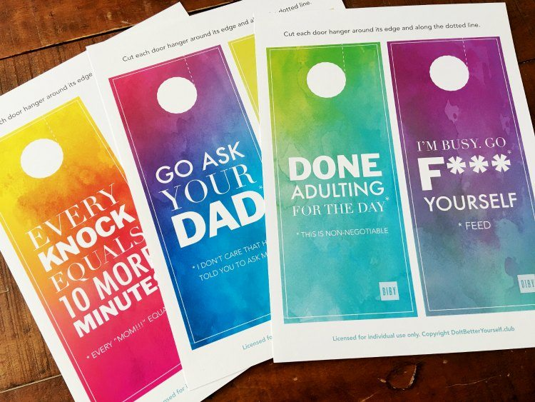 With Beautiful, Watercolor Backgrounds These Sassy And Salty Door Hangers  Feature My Favorite U201cleave Me Aloneu201d Expressions, Such As, U201cGo Ask Your  Dadu201d And U201c ...