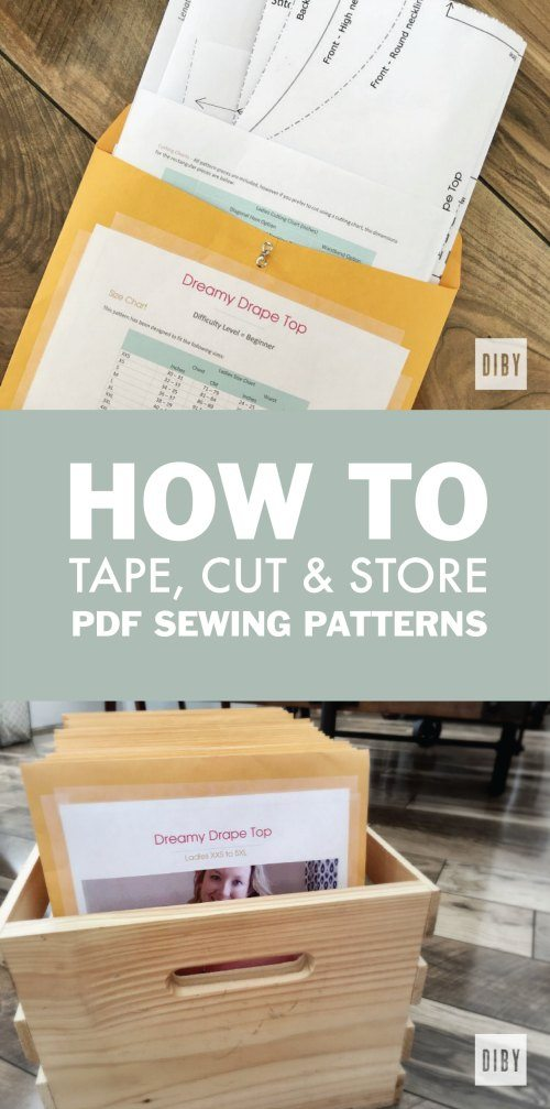 How To Tape Cut And Organize Your Pdf Sewing Patterns The Diby Club