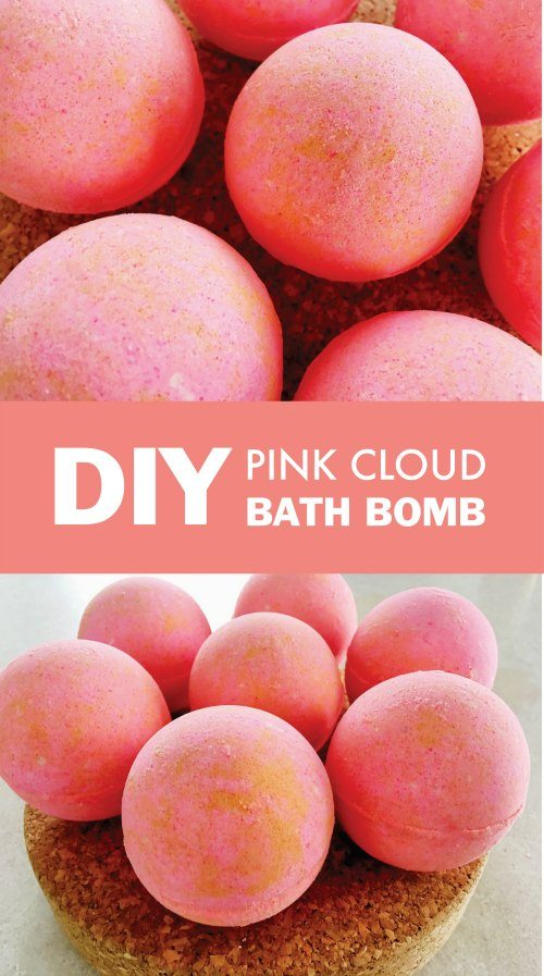 Make Your Own Luxury Pink Cloud Bath Bombs!