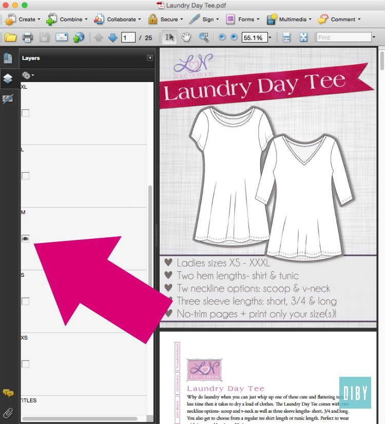 How to Print PDF Sewing Patterns - The DIBY Club