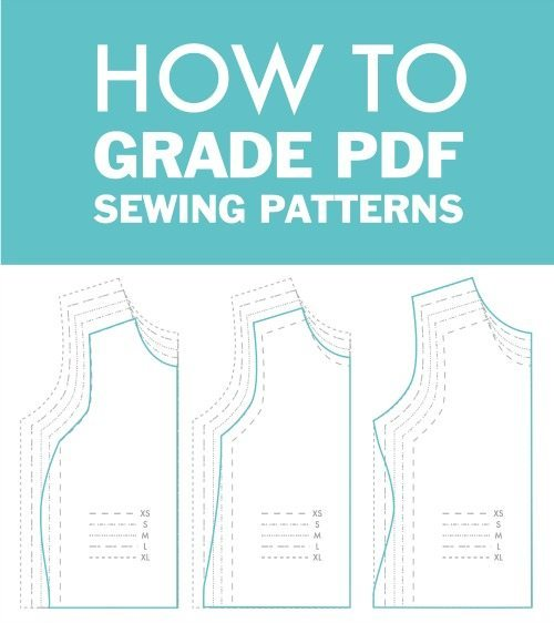 How To Grade Between Sizes In PDF Sewing Patterns - The DIBY Club