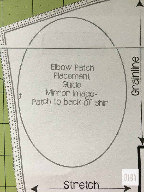 Understanding the markings on sewing patterns the diby club for Elbow patch template