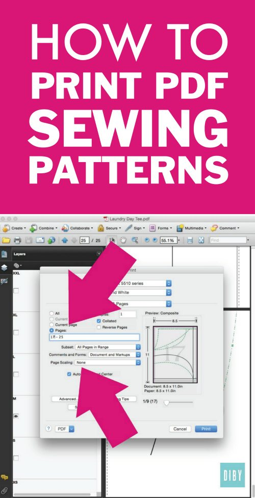 See How to Properly Print PDF Sewing Patterns