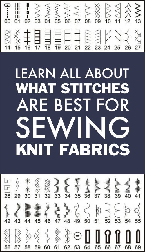 Learn What Stitches To Use On Your Sewing Machine When Sewing Knit Fabrics.