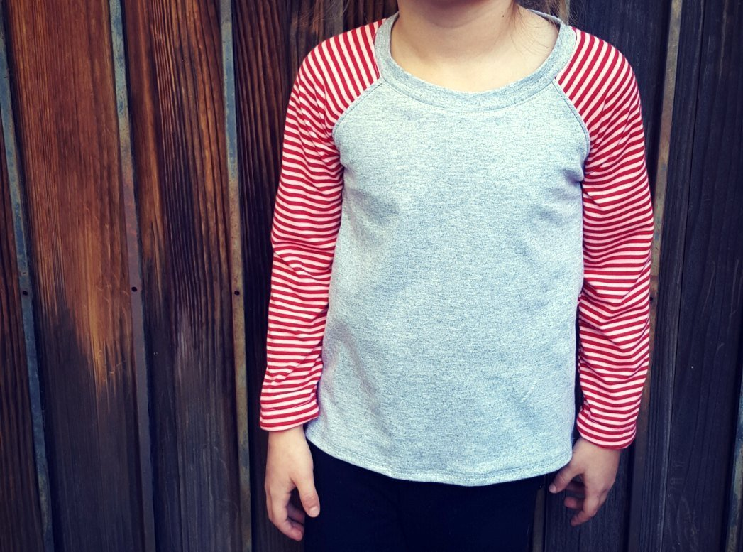 How to Sew A Custom Raglan from a RTW Store Bought Shirt