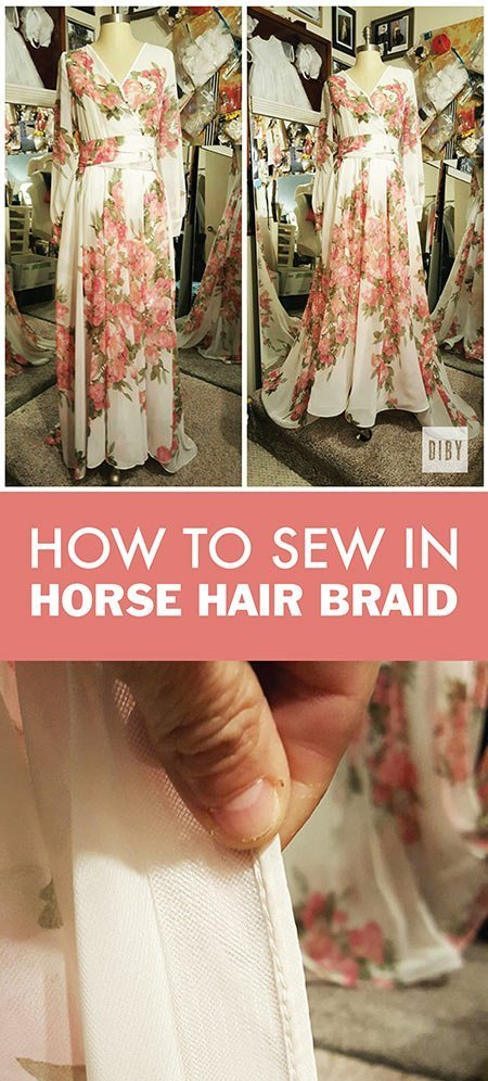 Learn How to Sew In Horse Hair Braid to Lift Your Dress Hem
