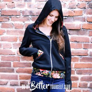 The Babe Womens Hoodie PDF Sewing Pattern
