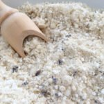 Make your own DIY soothing lavender milk bath salts!