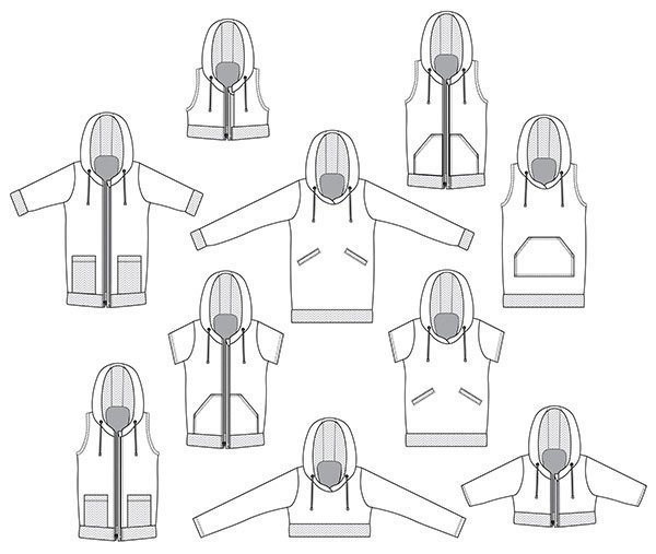 How to Sew a Hoodie with The Babe Pattern - The DIBY Club