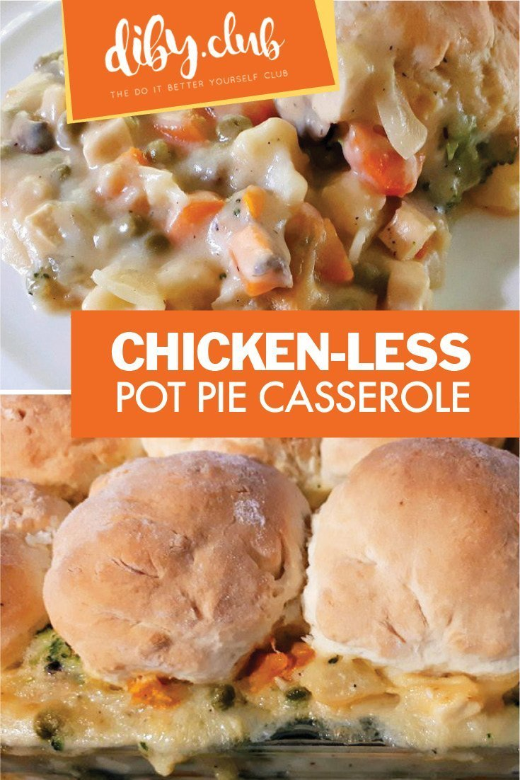 This delicious vegan variation of pot pie casserole will make you forget about chicken! Enjoy the comfort of this classic without the meat or dairy.