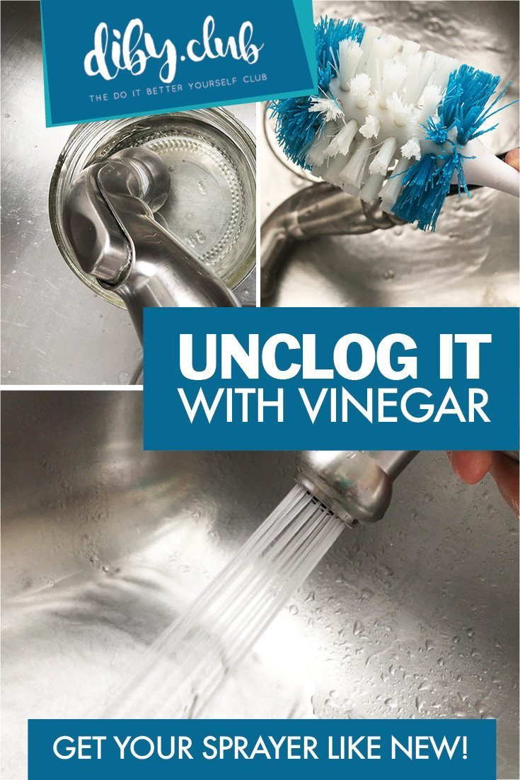 Unclog Your Sprayers and Faucets from Lime and Calcium Build up Using Vinegar! A Quick, Cheap and Easy Way to Get Your Sprayer Like New!