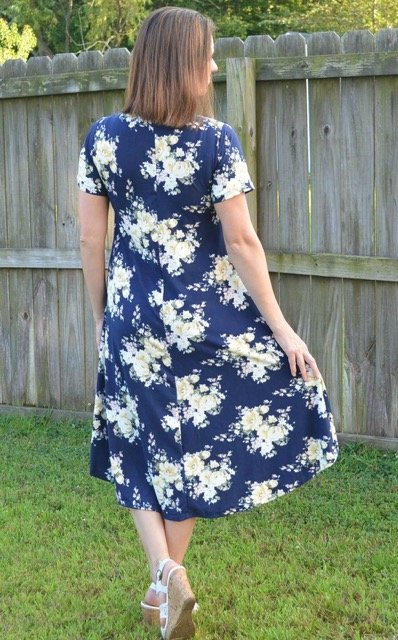 The Marjorie Swing Dress Pdf Sewing Pattern The Diby Club