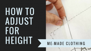 How to Adjust a Top or Dress Pattern for Your Height {VIDEO}