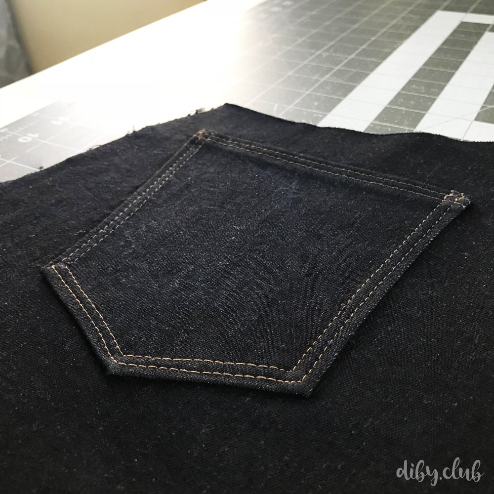 topstitching how to jean pockets