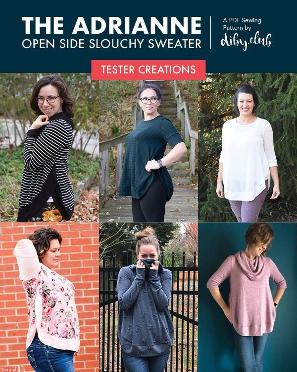 The Adrianne Open Side Slouchy Sweater Will Become Your All-Time Favorite PDF Sweater Sewing Pattern! Look Amazing in This Quick and Comfortable Top.