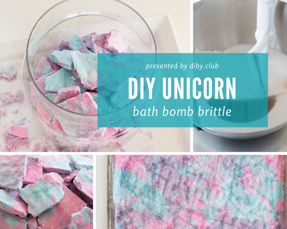 This Unicorn Bath Bomb Brittle Is The Easiest Bath Bomb