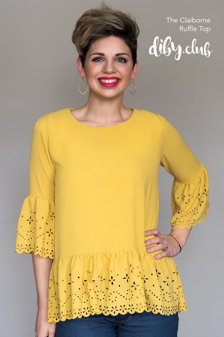 Claiborne Ruffle Top PDF Sewing Pattern