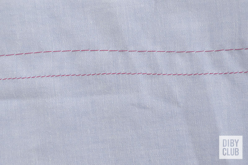 Basting stitch and straight stitch comparison