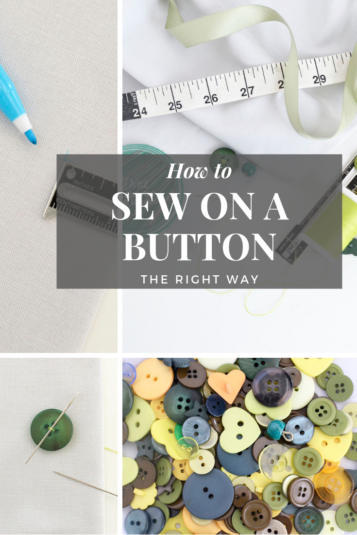 how to sew on a button by hand
