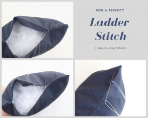 How to Sew a Perfect Ladder Stitch