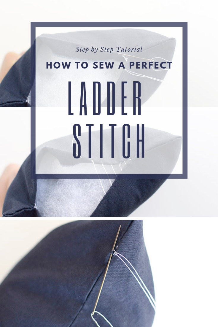 learn to sew the perfect ladder stitch
