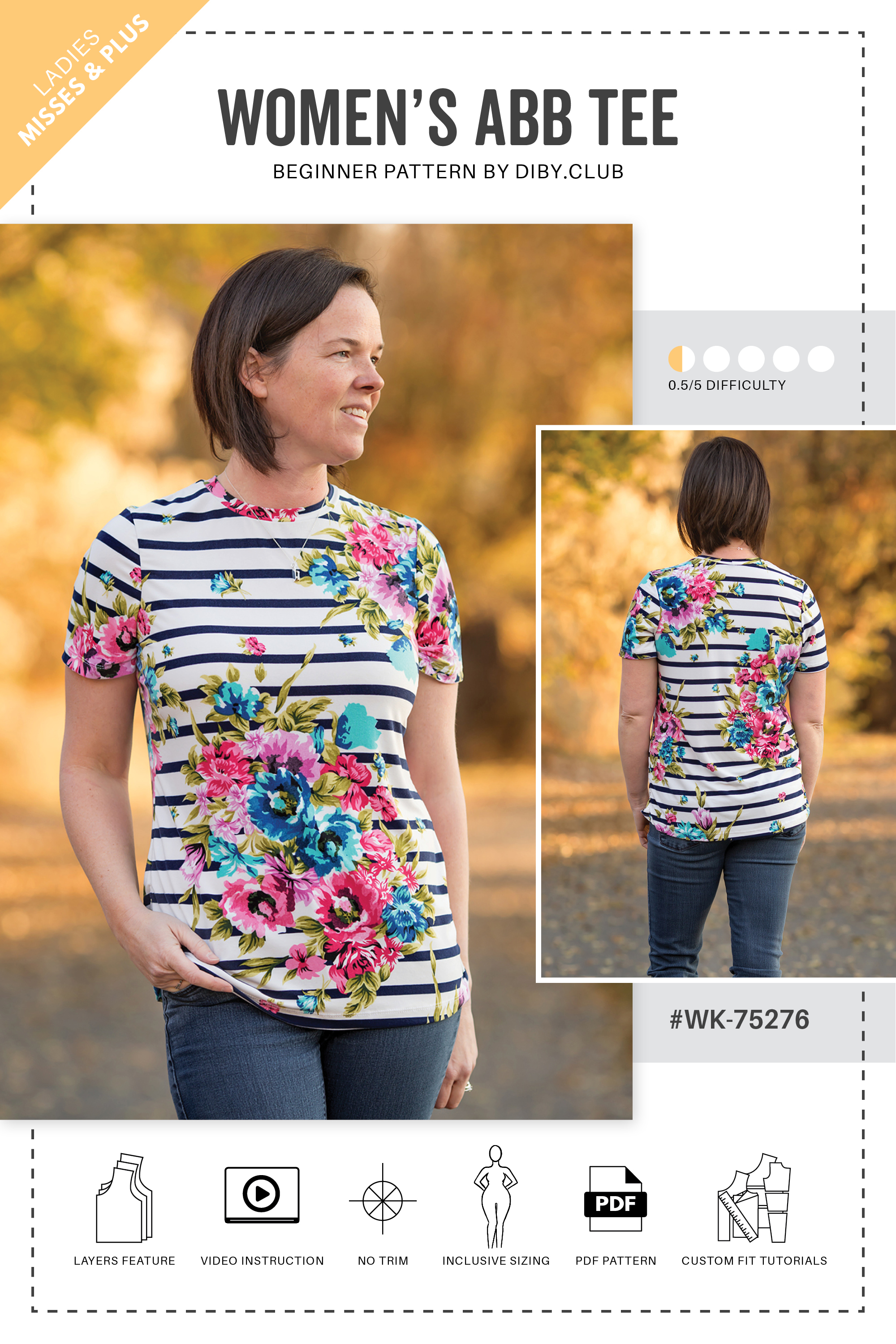 photo relating to Free Printable Plus Size Sewing Patterns named Anything at all Nevertheless Easy Womens Tee