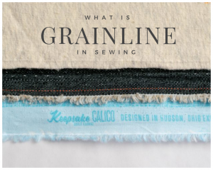 What is Grainline in Sewing