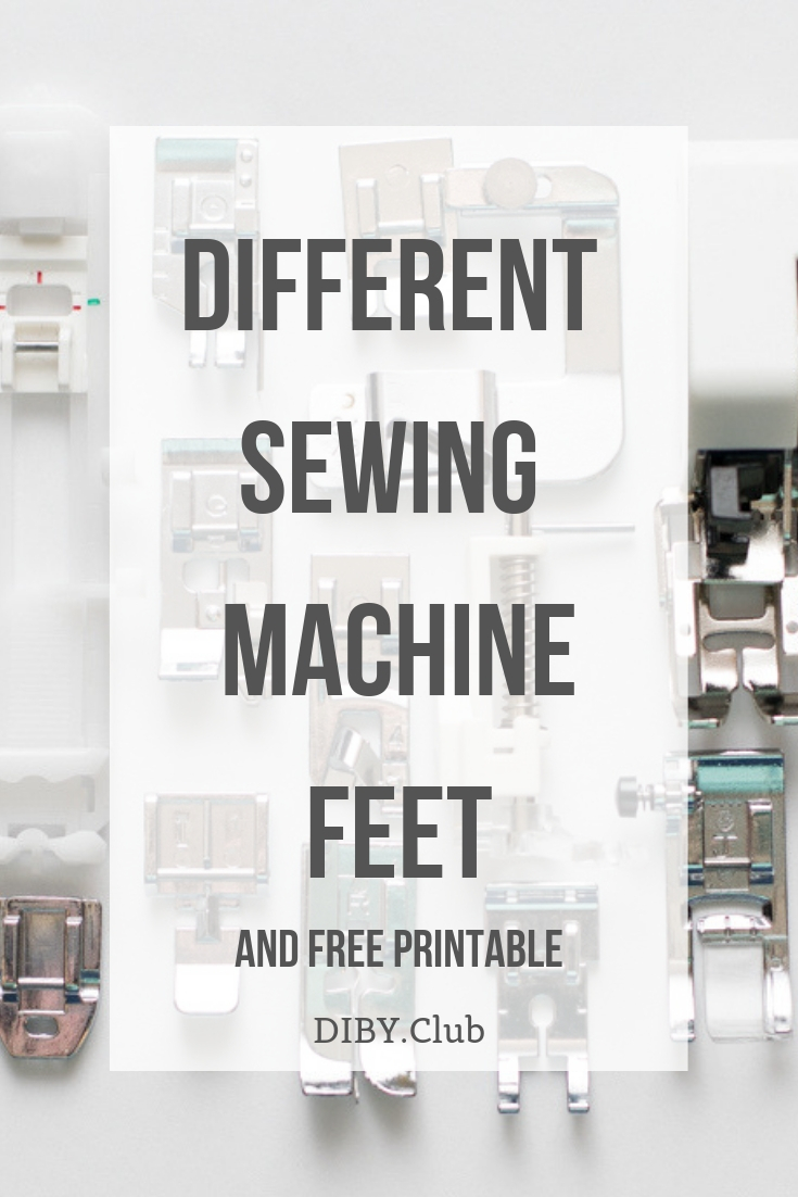 Knowing about the different sewing machine feet will help as you sew different projects. The feet will make your projects easier and end result much nicer.