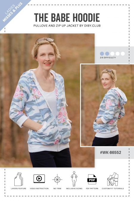 The Babe Hoodie Sewing Pattern Web Cover