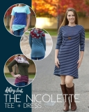 The Nicolette shirt and dress pdf sewing pattern