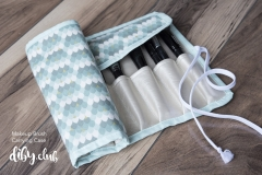 DIY Make Up Brush Case Half Rolled Up