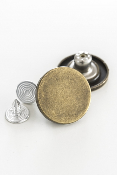 Jean Tack Button Antique Brass