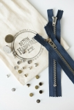 Silver and Brass Jean Hardware Kit