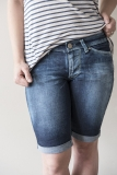 Distressed Walker Denim Shorts Bermuda Hip Tilt