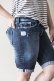 Distressed Walker Denim Shorts Bermuda Distressed Side