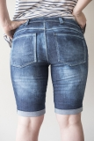 Distressed Walker Denim Shorts Bermuda Distressed Back