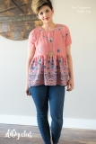 Pink-Ruffle-Claiborne-Top-Sewing-Pattern-Arms-Down