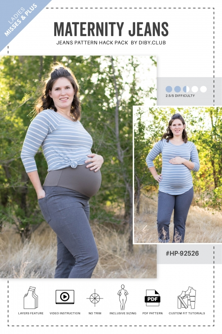 Maternity Jeans Hack Pack Sewing Pattern Web Cover1