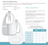 The Weekender Fabric Requirements and Line Art