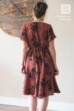Sojourner-Boho-Dress-Maroon-Floral-Flutter-Sleeve-Back