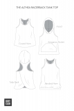 The Althea Racerback Tank Top Line Art Options