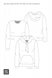 The Melissa Sweatshirt Pattern Option Examples