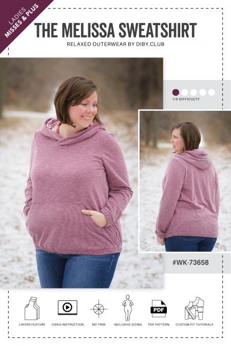 The Melissa Sweatshirt Pattern Web Listing Cover Photo