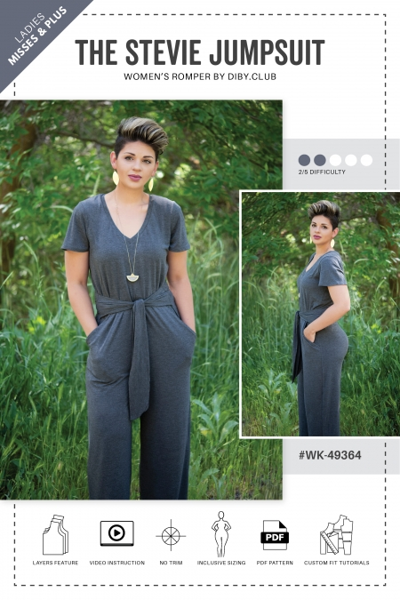 Stevie Womens Jumpsuit Romper Sewing Pattern Cover5