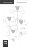 The Harriet Knot Tee Womens Sewing Pattern Options Example